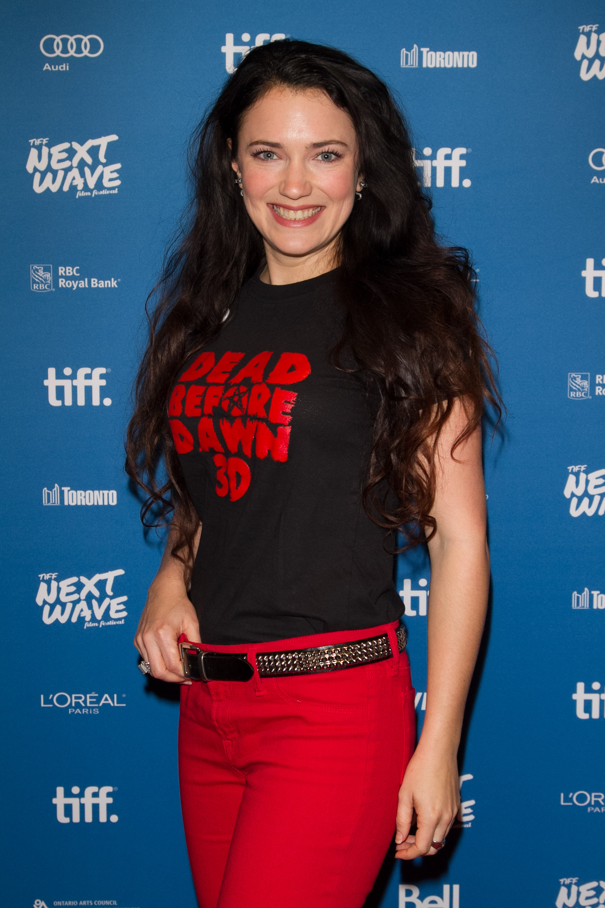Director/Actress April Mullen arrives at the TIFF Next Wave Film Festival in Toronto for the North American Premiere of Dead Before Dawn 3D.  Photo by: Sarjoun Faour, WireImage/Getty for TIFF