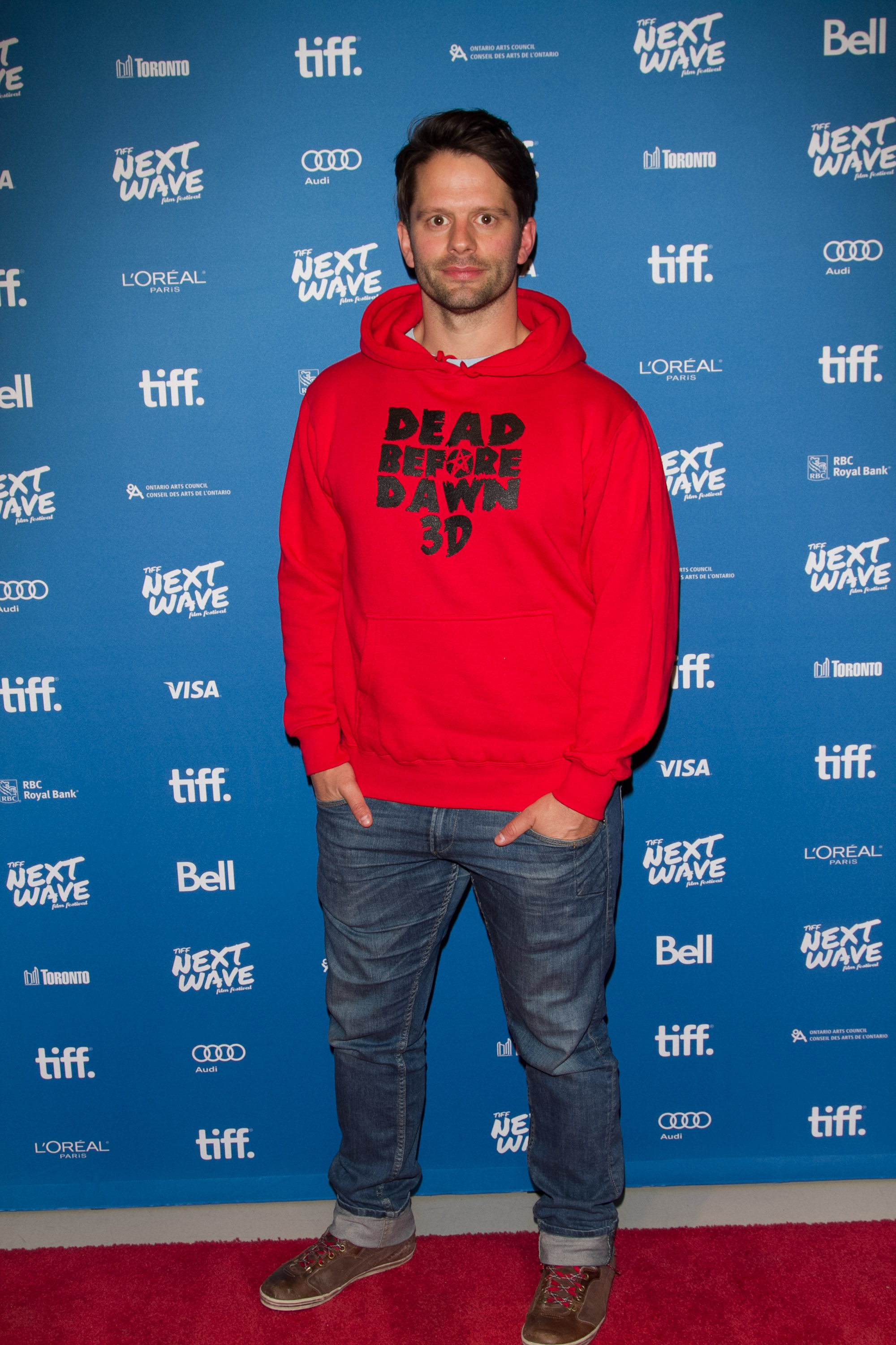 Actor/Writer Tim Doiron arrives at the TIFF Next Wave Film Festival in Toronto for the North American Premiere of Dead Before Dawn 3D.  Photo by: Sarjoun Faour, WireImage/Getty for TIFF