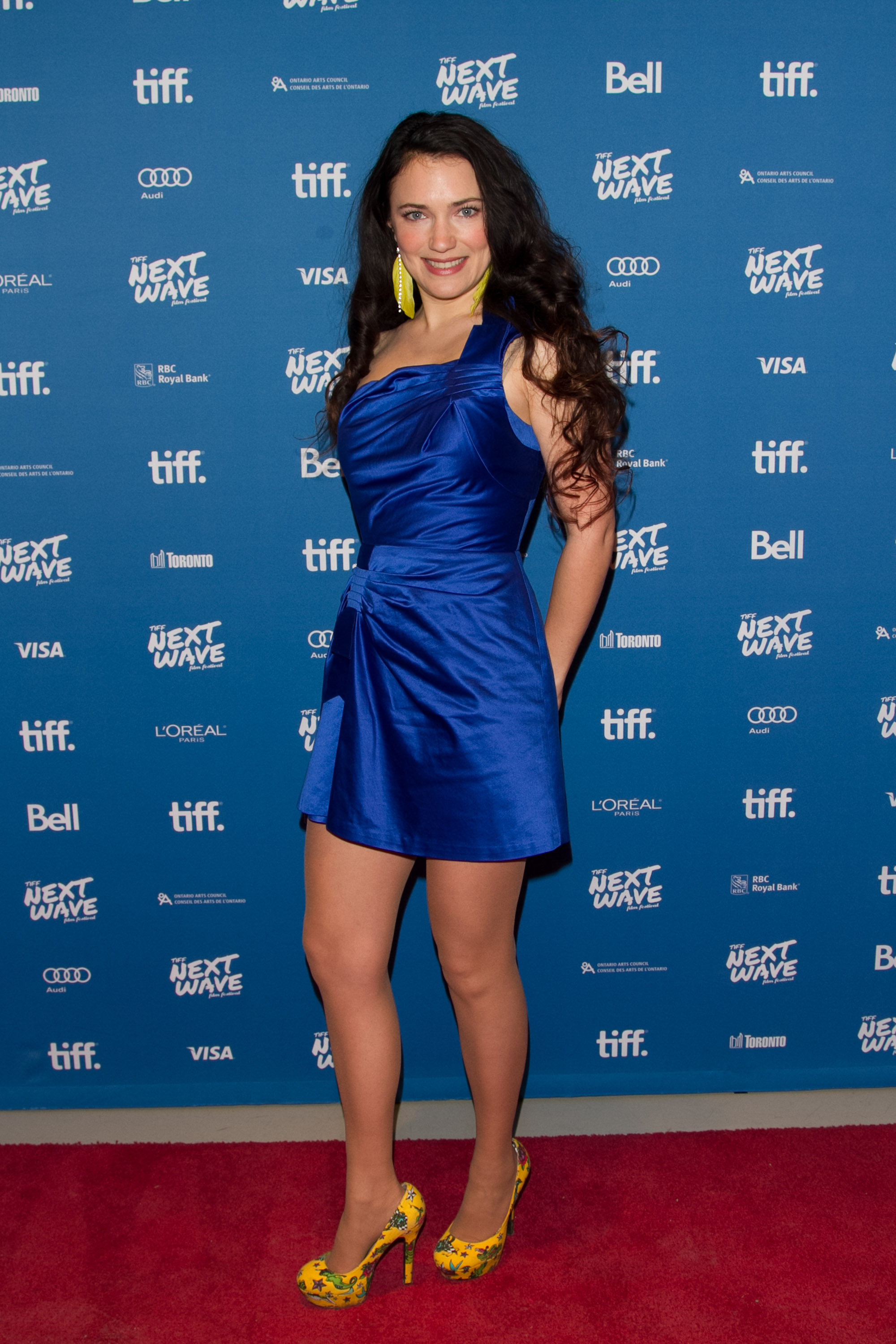 April Mullen (Director/Actress) at the North American Premiere of Dead Before Dawn 3D.  TIFF Next Wave Film Festival.  Photo by: Sarjoun Faour, WireImage/Getty for TIFF